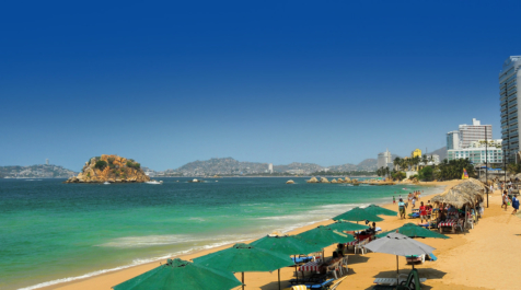 Acapulco beach view